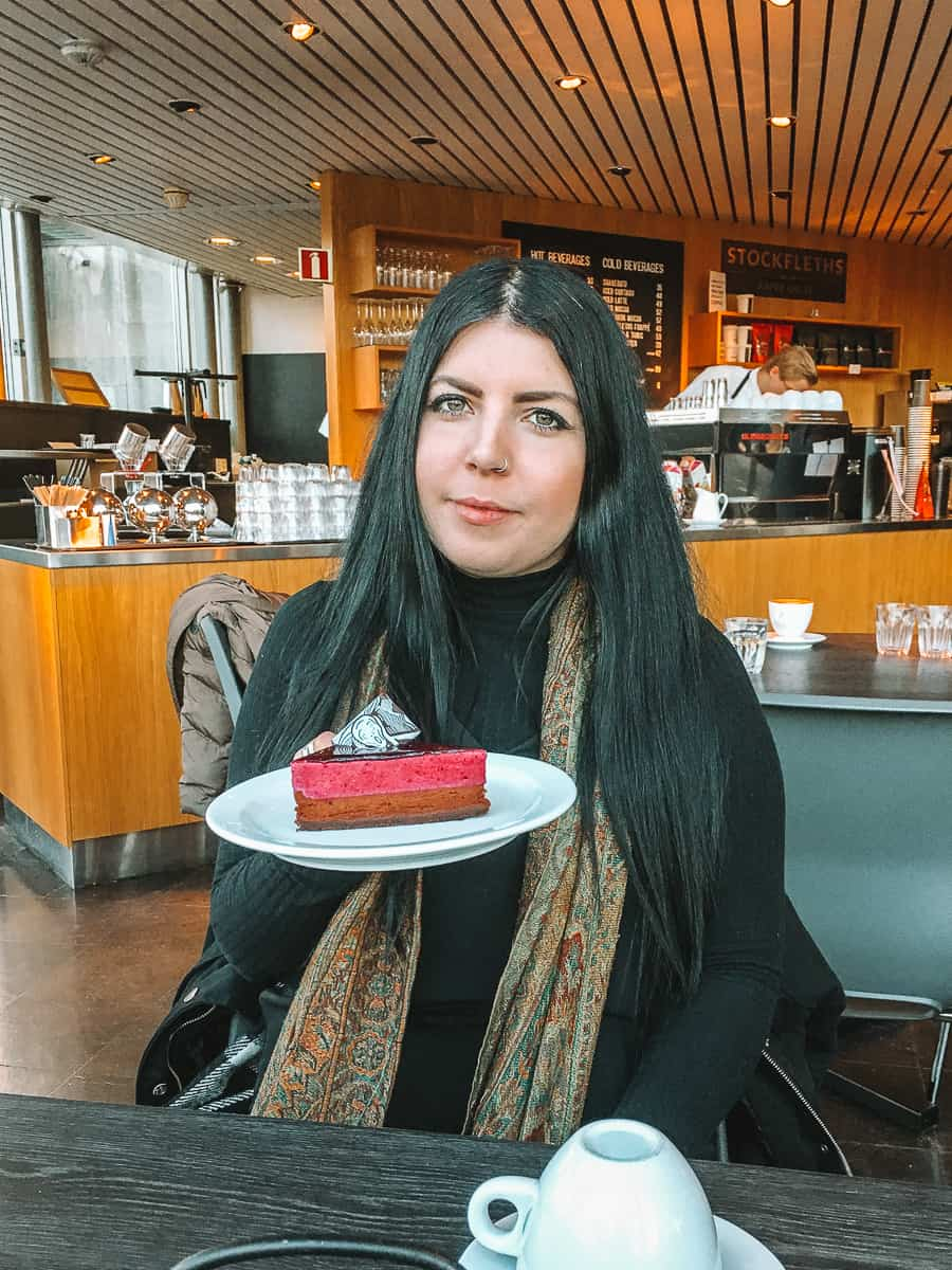 Scream Cake at the Munch Museum cafe