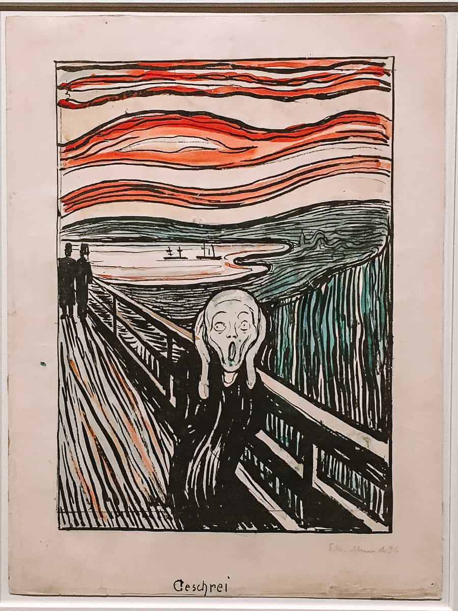 The Scream by Edvard Munch at the Munch Museum Oslo
