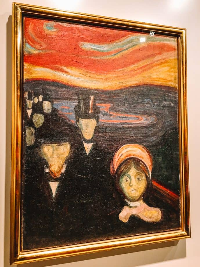 """Munch's """"Anxiety"""" painting at the Munch Museum in Oslo"""