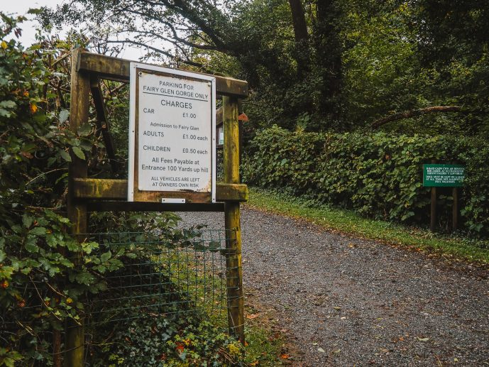The Fairy Glen Wales Parking