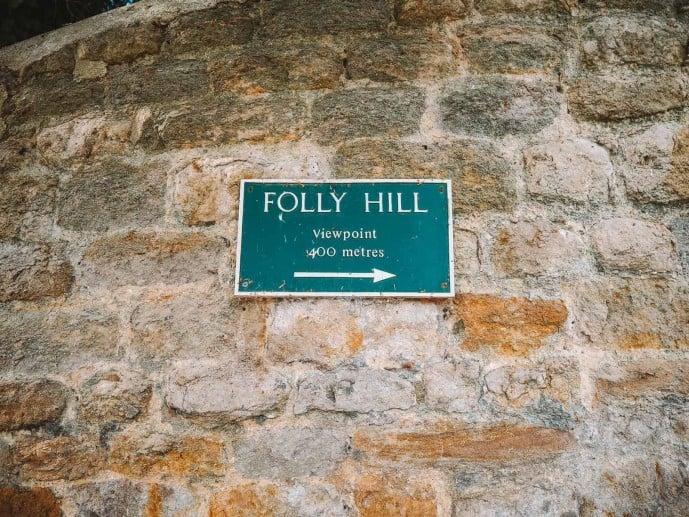 Faringdon Folly Hill Sign