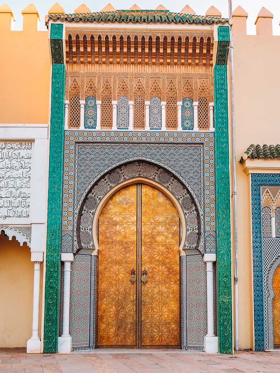 Gates of Fez Royal Palace Doors