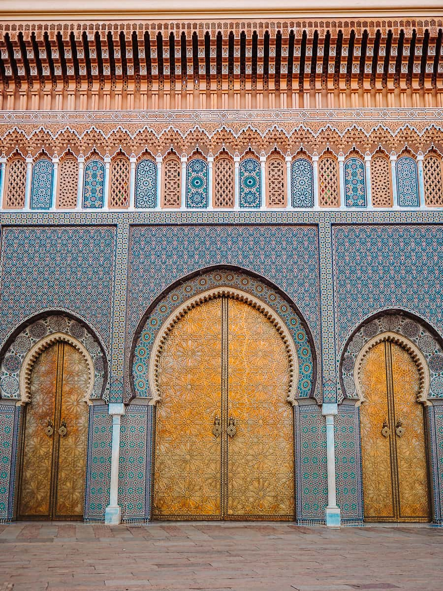The Royal Palace of Fez Doors at Place des Alouites