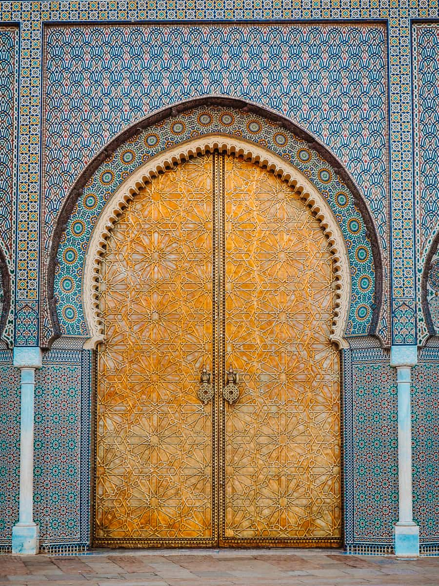 Fes Royal Palace Gold Door Morocco