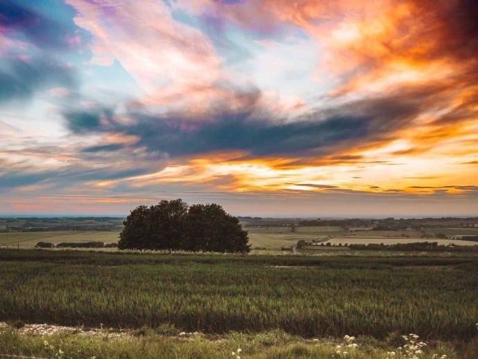 Hackpen Hill Sunset