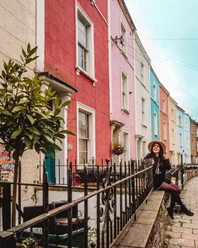 where to find the colourful houses in bristol