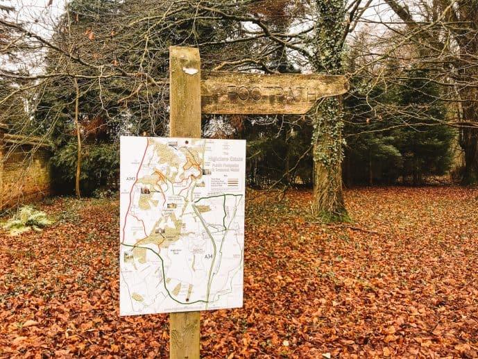 Highclere Castle Public footpaths