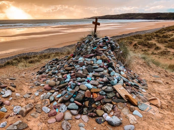 Dobby's Grave Freshwater West Beach Wales