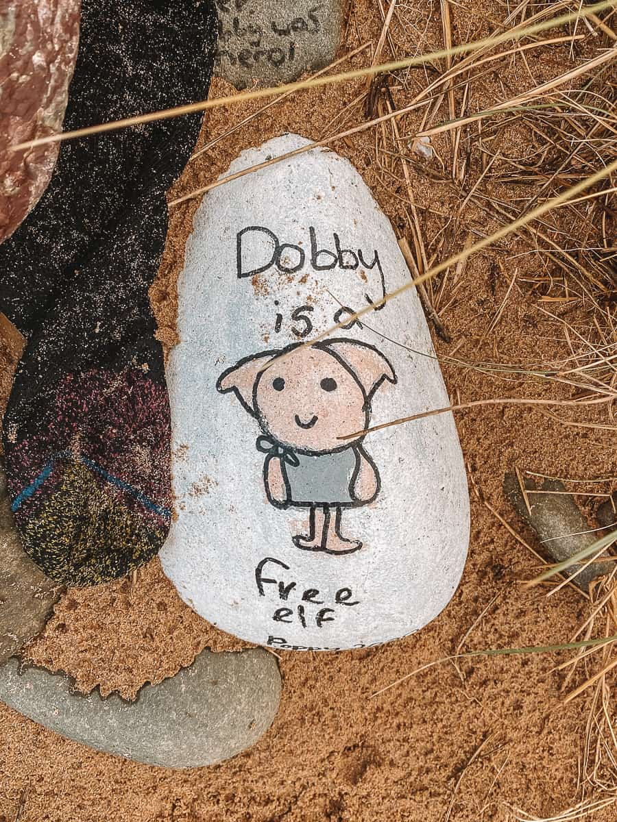 Dobby is a Free elf pebble Freshwater West Beach