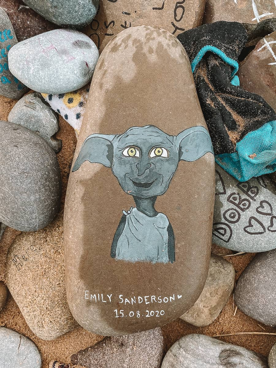 Dobby the Free Elf Pebble by Emily Sanderson