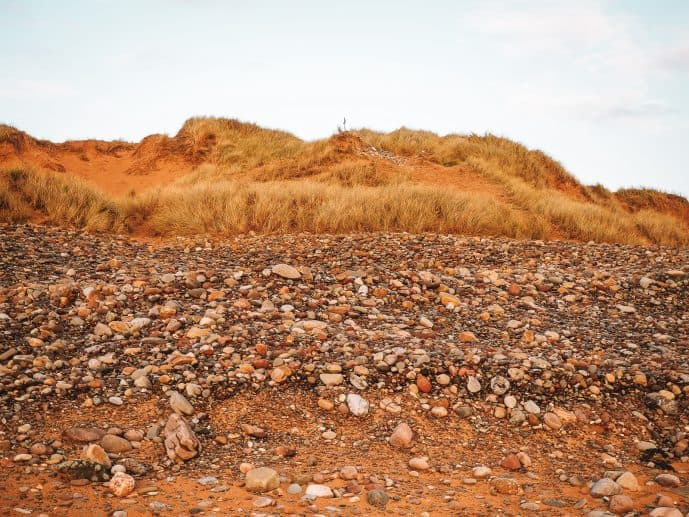 Dobby's Grave location Freshwater West Beach