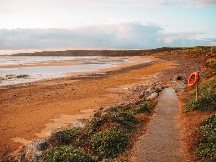 Entrance to Freshwater West Beach Pembrokeshire Wales