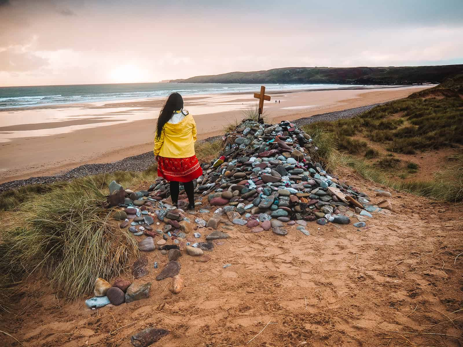 How to find Dobby's Grave location Freshwater West Harry Potter Beach Wales