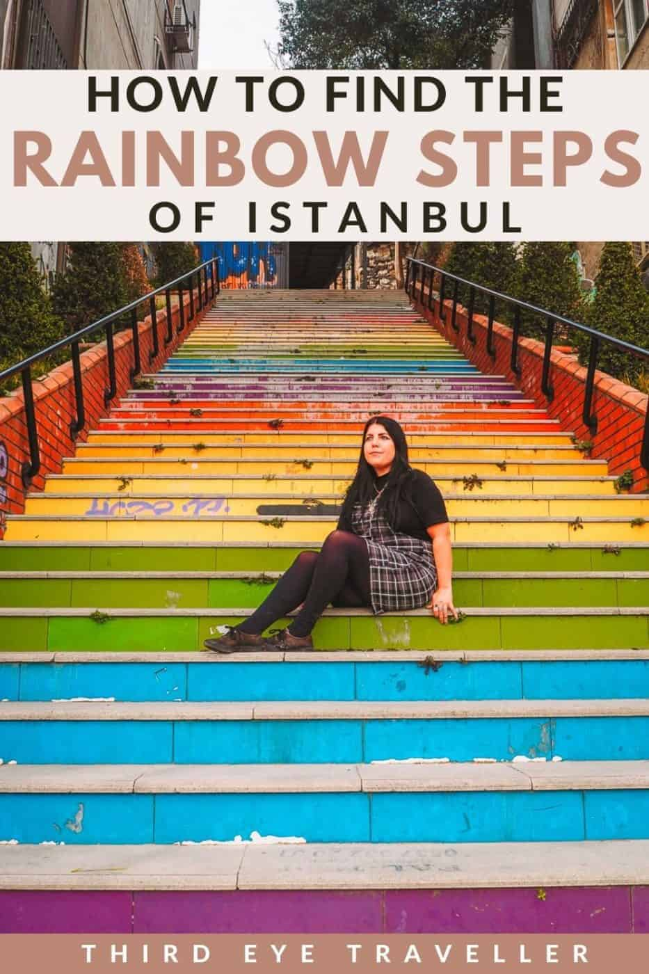 how to find the rainbow steps in Istanbul