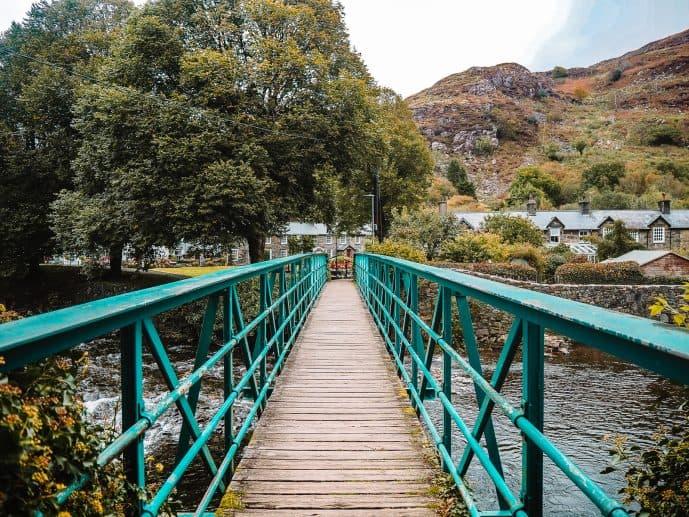 Beddgelert Footbridge snowdonia Wales