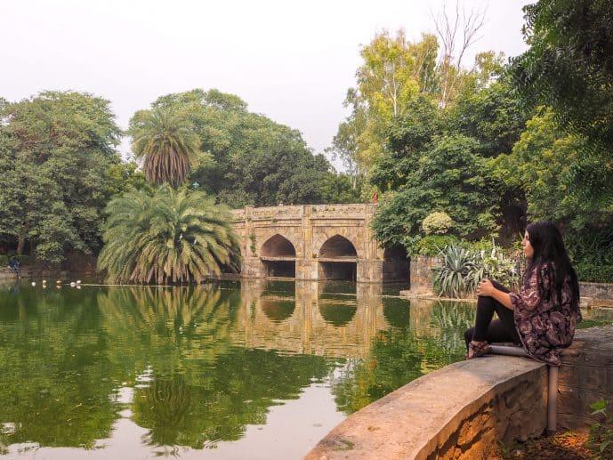 The Eight Arch bridge in Lodhi Gardens Delhi
