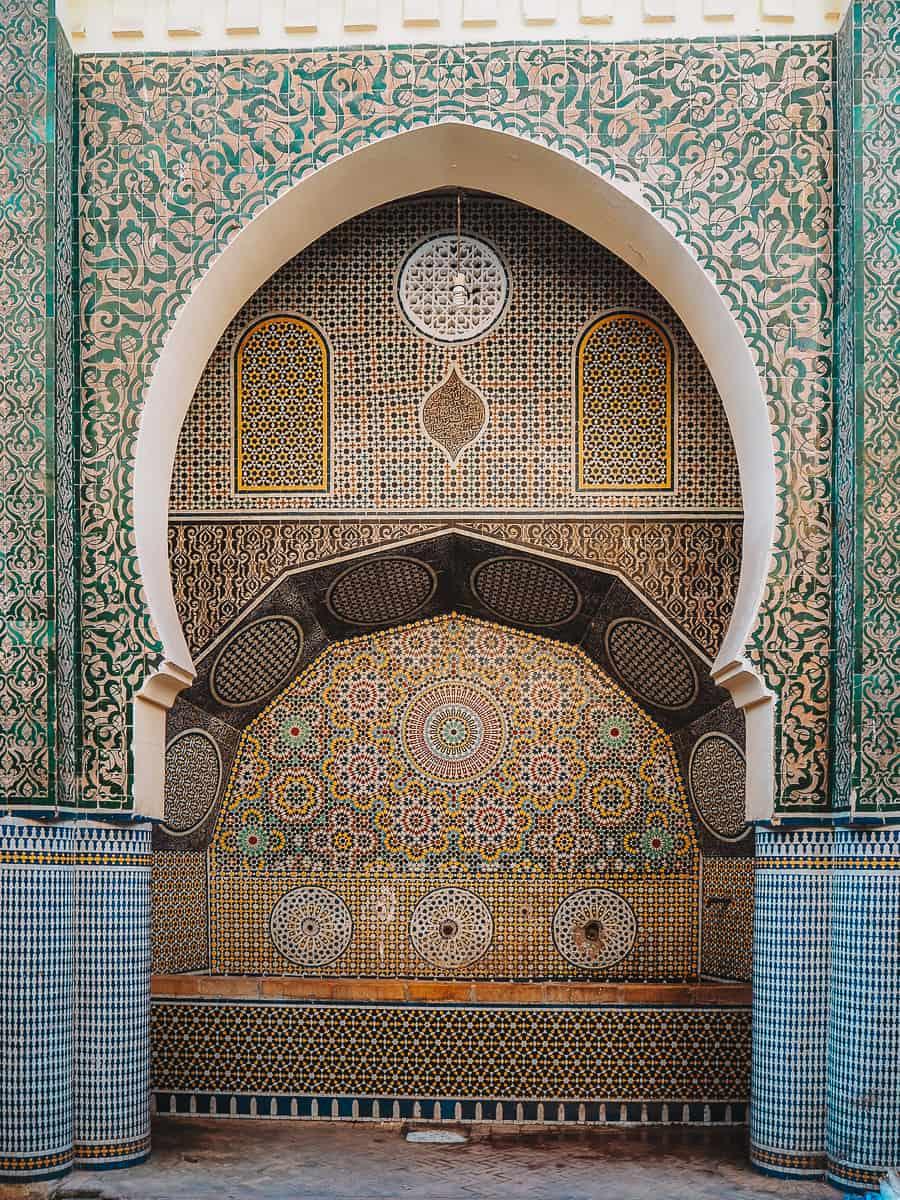 Fes Medina Fountain Morocco