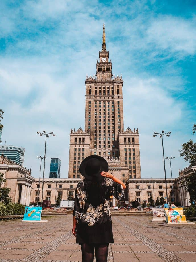 The Palace of Culture and Science | Instagrammable places in warsaw photography guide
