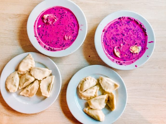 Pierogi and Borscht Polish Milk Bar Warsaw