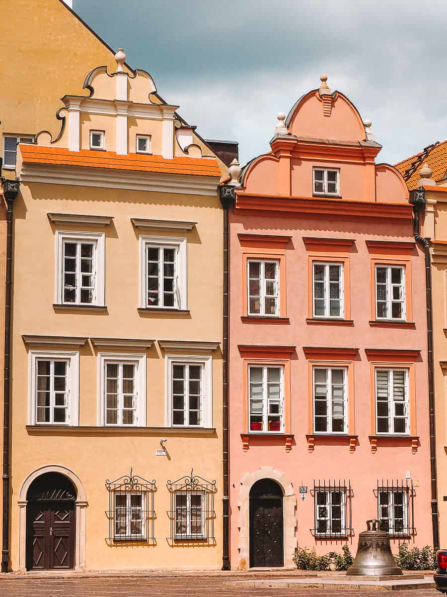 Colourful Houses of Warsaw Old Town Wishing Bell