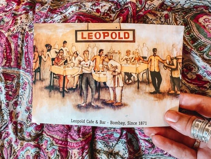 Leopold Cafe Postcard Vintage