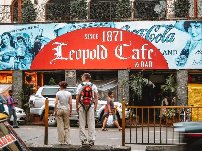 The outside of Leopold Cafe Mumbai