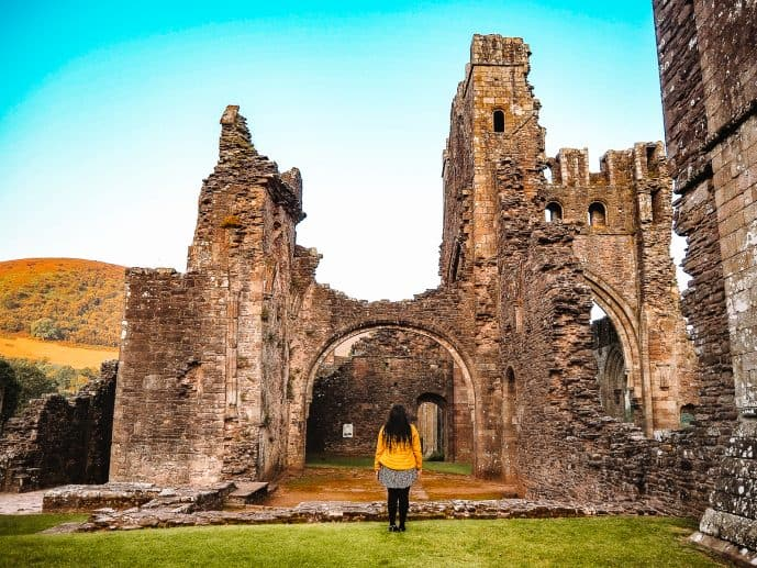 Llanthony Priory Ruins Brecon Beacons Wales