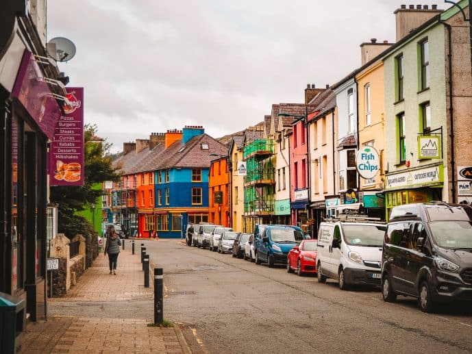 The colourful houses of Llanberis!