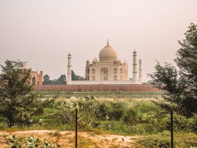 Mehtab Bagh Gardens best view of the Taj Mahal