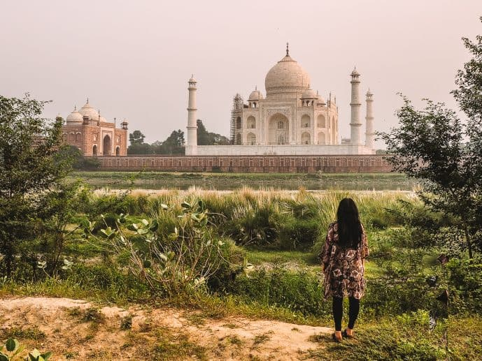 Mehtab Bagh Taj Mahal viewpoint
