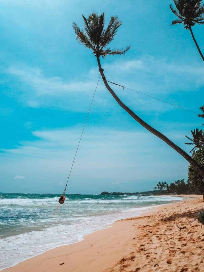 dalawella beach swing sri lanka
