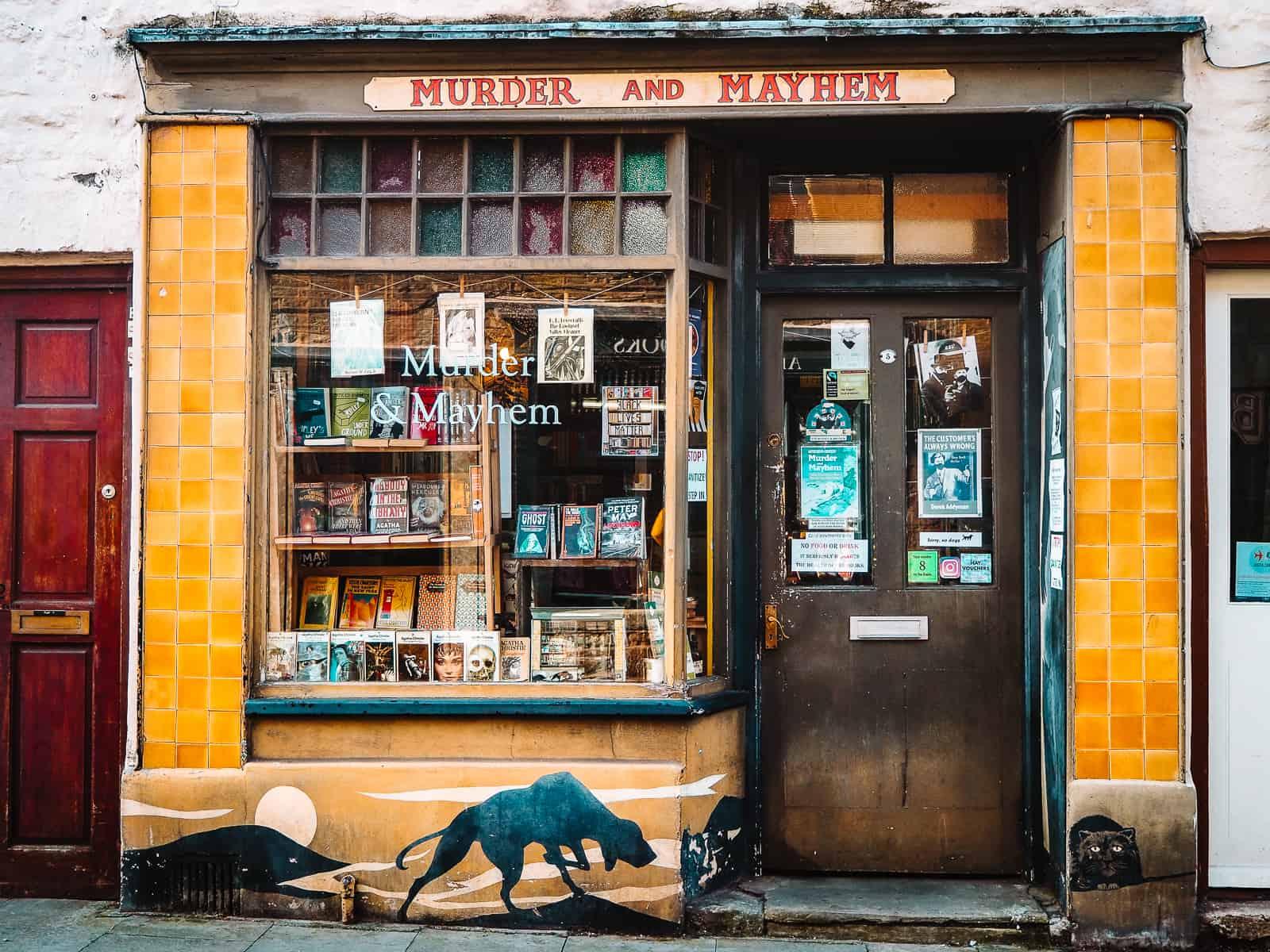 Murder and mayhem bookshop hay on wye