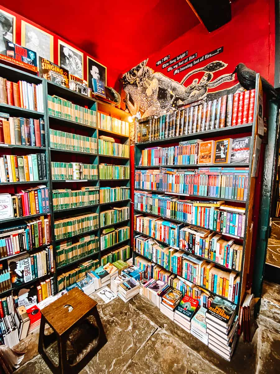 Murder and Mayhem Bookshop Hay on Wye