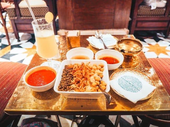 Naguib Mahfouz Cafe Koshari dish