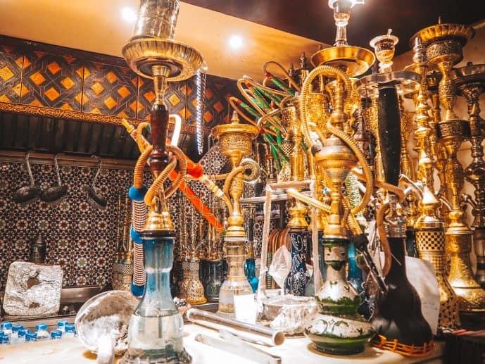 Naguib Mahfouz Cafe Shisha Hookah Pipes