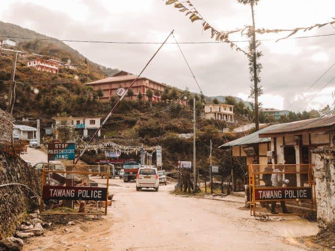 Tawang Security Checks on Sela Pass Road
