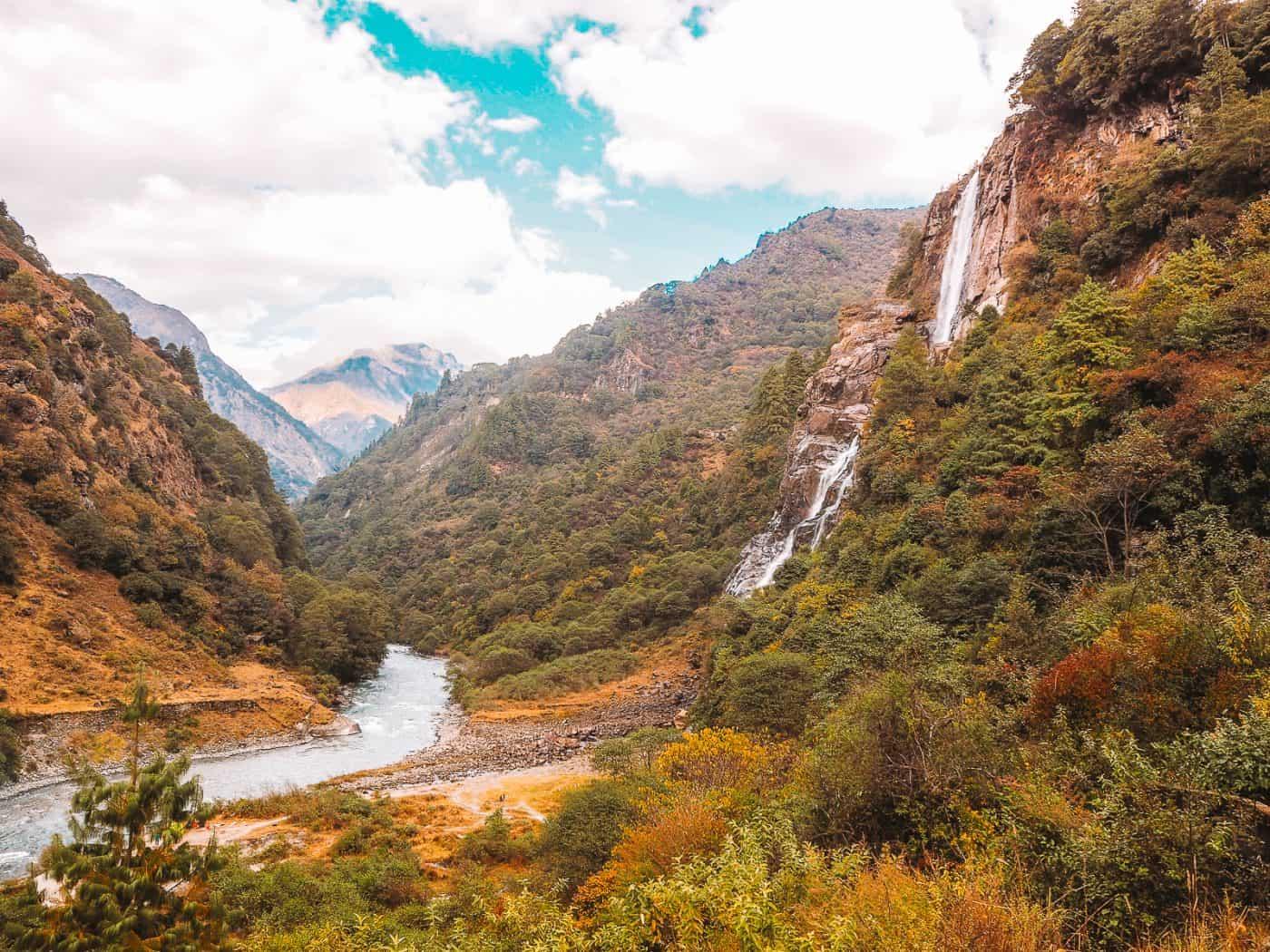 Nuranang Falls in Tawang Valley Jang Town