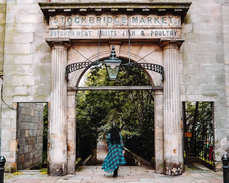 Old Stockbridge Market Arch Edinburgh