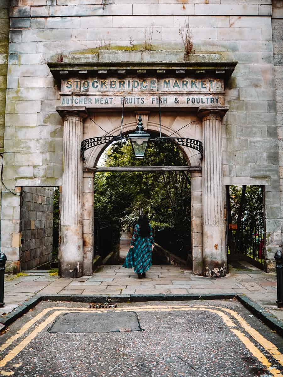 Old Stockbridge Market Arch location Edinburgh