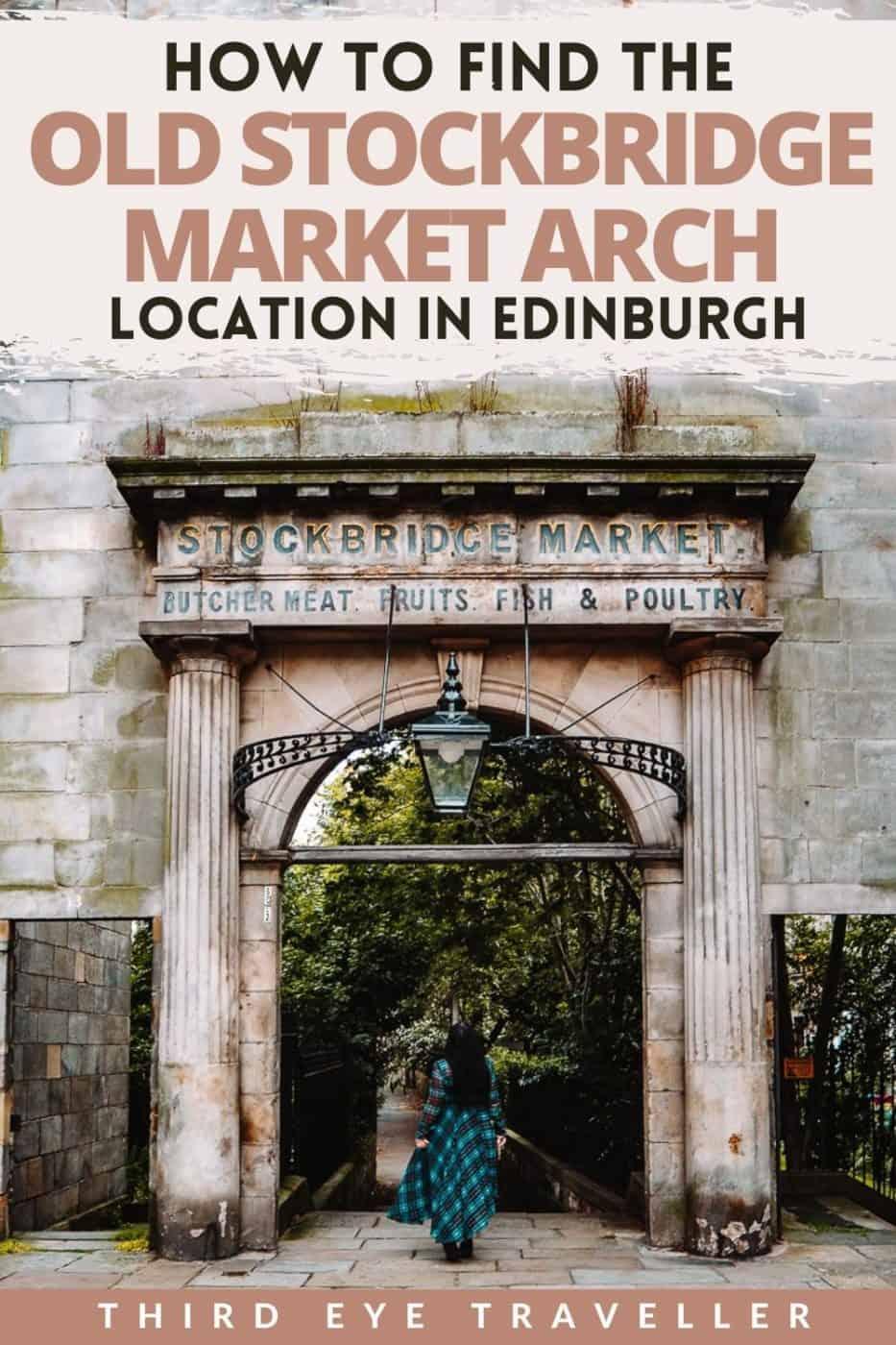 old stockbridge market arch location edinburgh 1