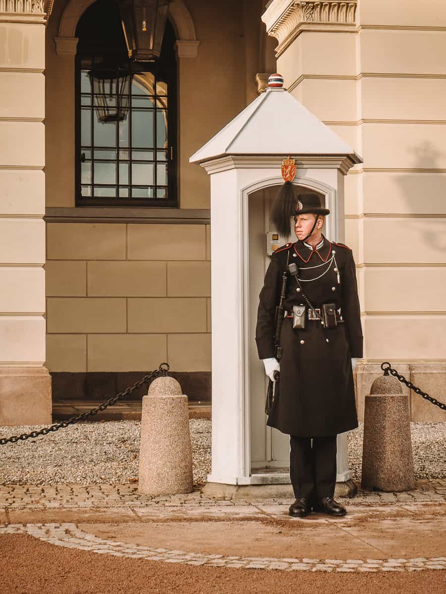 Oslo Royal Guard outside Oslo Royal Palace