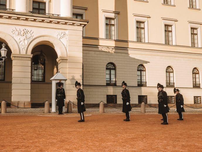 Oslo Royal Guard at Oslo Royal Palace