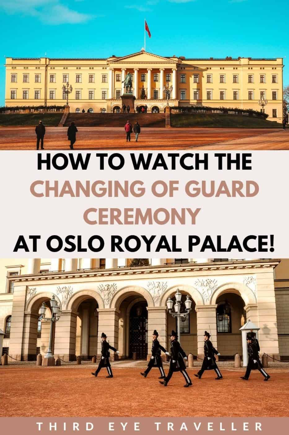 Oslo Royal Palace Changing of the Guard Ceremony