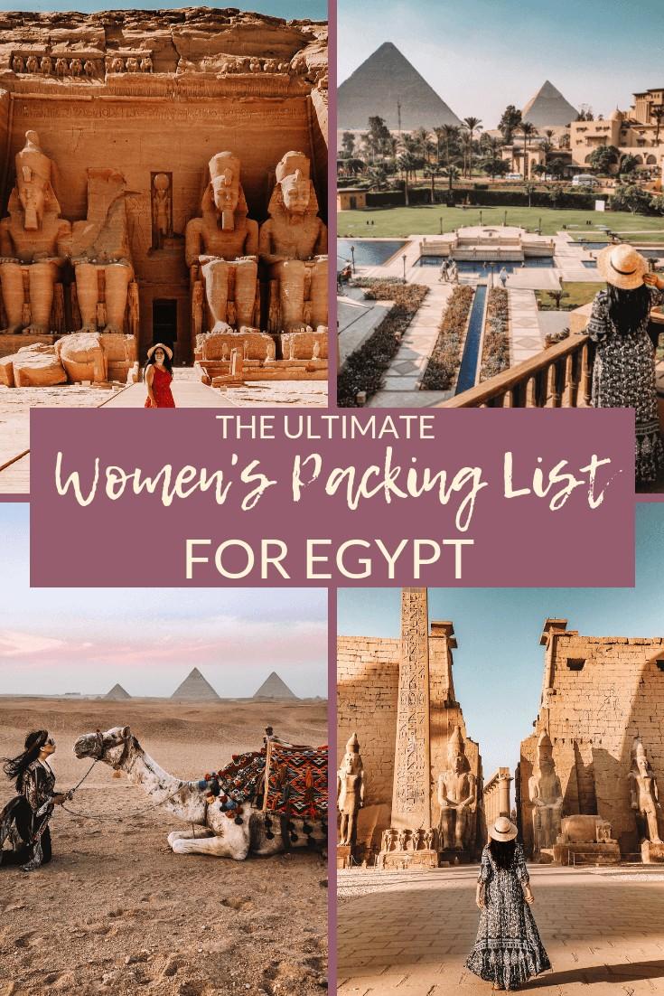 packing list for egypt