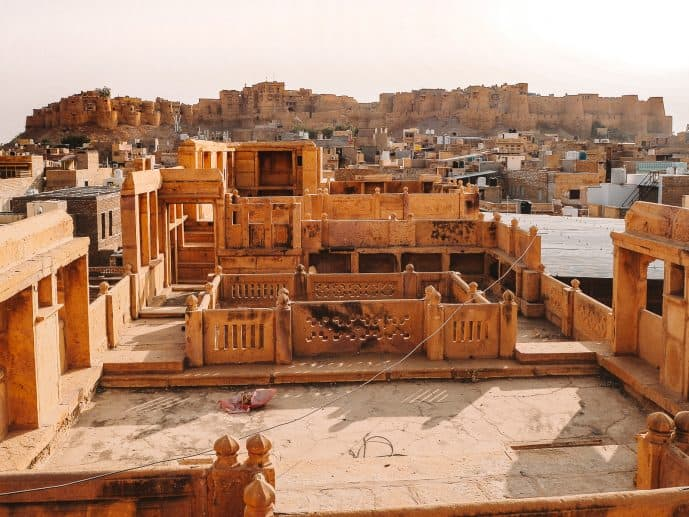 The rooftop view of Jaisalmer Fort from Patwon Ki Haveli Museum