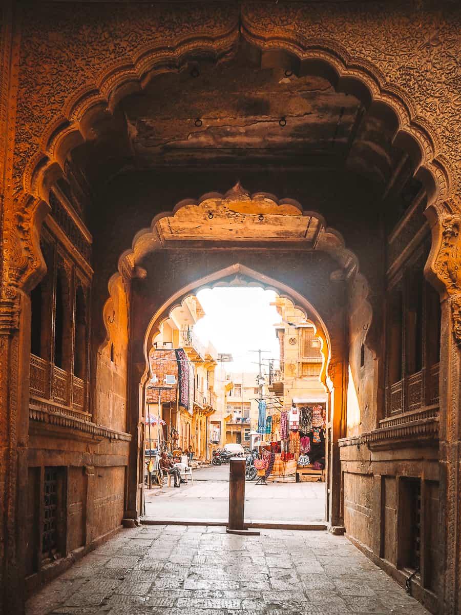 Patwa Haveli Complex alleyway