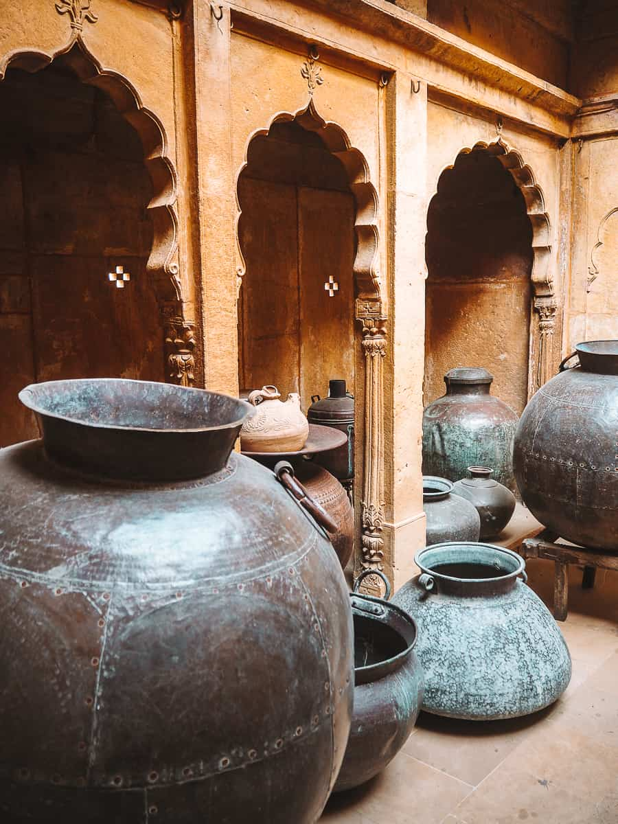 The pots at Kothari's Patwa Haveli museum