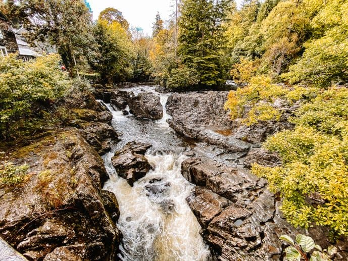 Pont-y-Pair waterfalls cauldron betws-y-coed