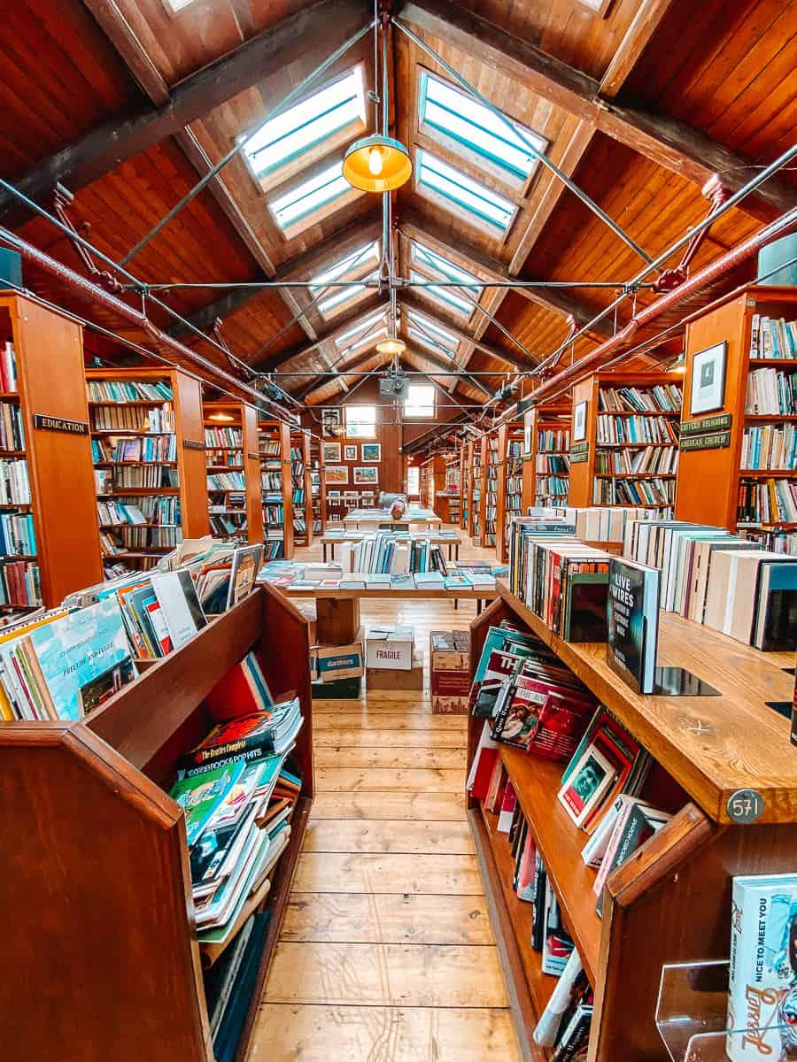 Inside Richard Booth's Bookshop top floor