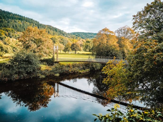 How to find Sappers Suspension Bridge Betws-y-Coed Wales
